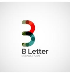B letter logo minimal line design vector image