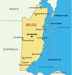 Belize - map vector