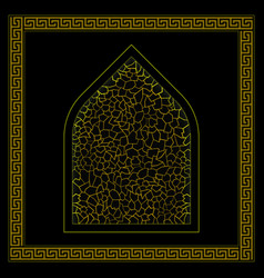 black and gold turkish hamam ornament vector image