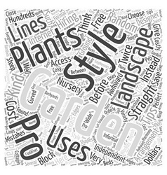 BW landscaping your garden Word Cloud Concept vector