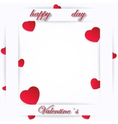Card for Valentine Day on a White Background vector image