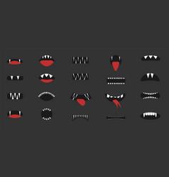 Cartoon mouth set vector