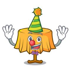 Clown table cloth mascot cartoon vector