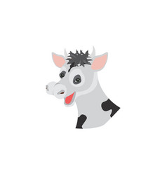 color image the head of a cow vector image