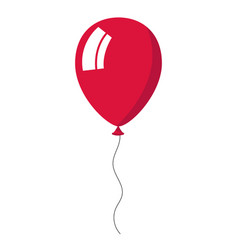 Crimson balloon on white background vector