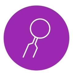 Dental mirror line icon vector