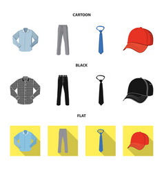 design of man and clothing logo collection vector image