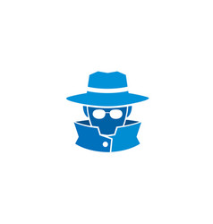 Detective head sheriff logo vector