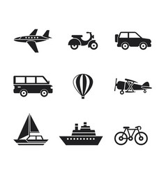 digital black travel transport vector image