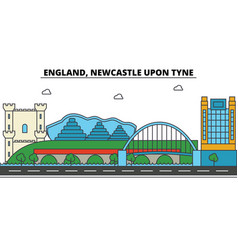 England newcastle upon tyne city skyline vector