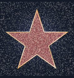 Famous actor star bright star on celebrity vector