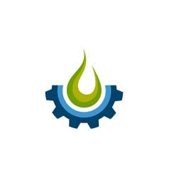 fire gear icon logo design element fire vector image