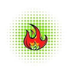 Fire icon comics style vector image