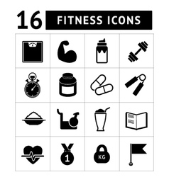 Fitness icons vector