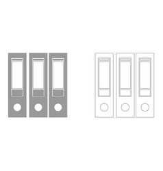 Folders set icon vector