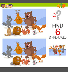 game of differences with animals vector image