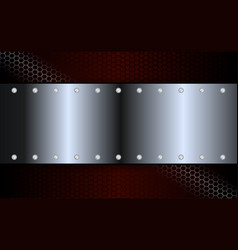 Geometric abstract design with a metal shade frame vector