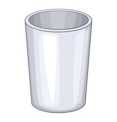 Glass icon cartoon style vector image