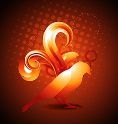 Golden color bird vector
