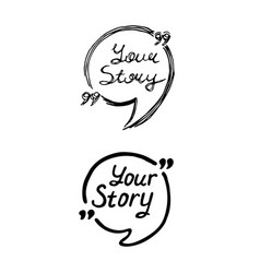 graphic logo icon your story vector image