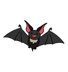 Happy halloween color icon with cute vector