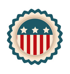 happy independence day american flag badge emblem vector image
