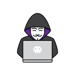 Icon of hacker vector