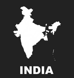 india map icon flat india sign symbol with on vector image