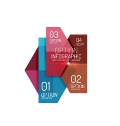 Infographic banner layouts vector image