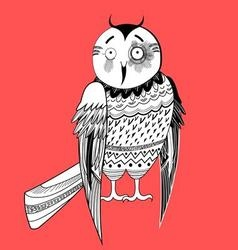 Large a graphical a fun night owl vector