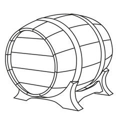 line art black and white beer barrel vector image
