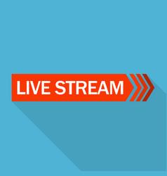 Live stream logo flat style vector