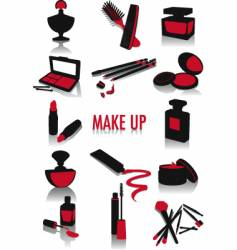 Make-up silhouettes vector