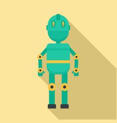 metal humanoid icon flat style vector image