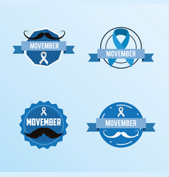 Movember prostate cancer day vector