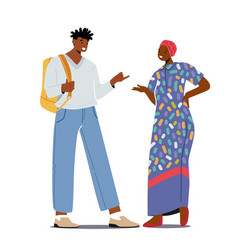 Multiethnic people african man in modern clothes vector