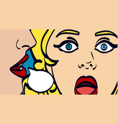 Nice pop art retro comic vector
