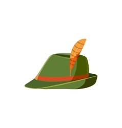 Oktoberfest tirol hat icon cartoon style vector image