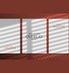 overlay shadow natural lighting branding vector image