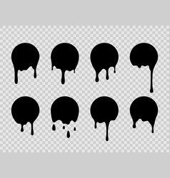 paint drip stickers dripping liquid current paint vector image