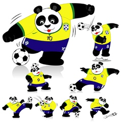 Panda Soccer Brasil All Action vector