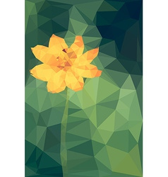 Polygonal of cosmos flower vector