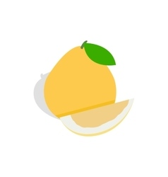 Pomelo icon isometric 3d style vector
