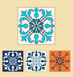 Portuguese tile design vector