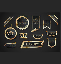 Premium quality badges or tag vector