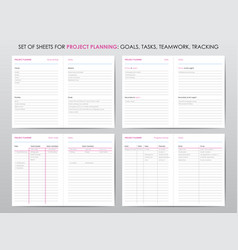 Project planner template vector
