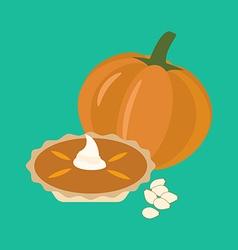 Pumpkin pie vector image