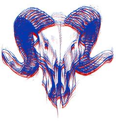 Ram skull 3d vector