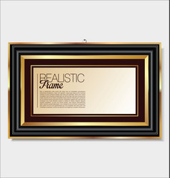 realistic frame 4 vector image