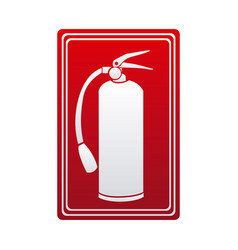 red color signal silhouette fire extinguisher icon vector image